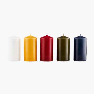 PILLAR CANDLES MIX COLOR