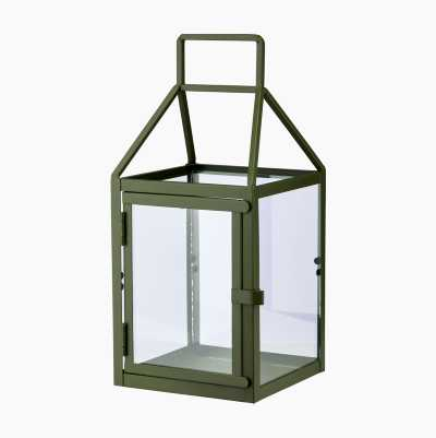 LANTERNS METALL LARGE GREEN CA