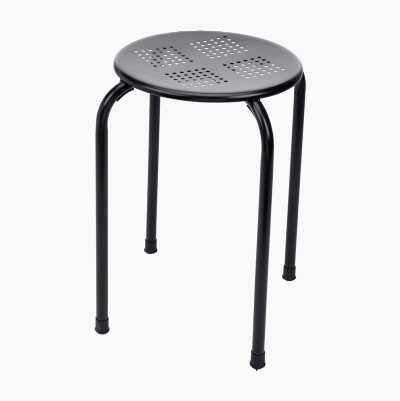 STACKABLE METALSTOOL BLACK