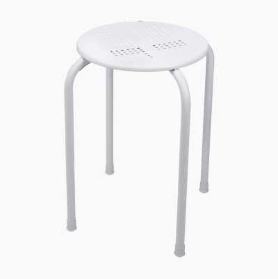 STACKABLE METALSTOOL WHITE