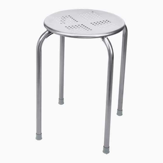 STACKABLE METALSTOOL GREY