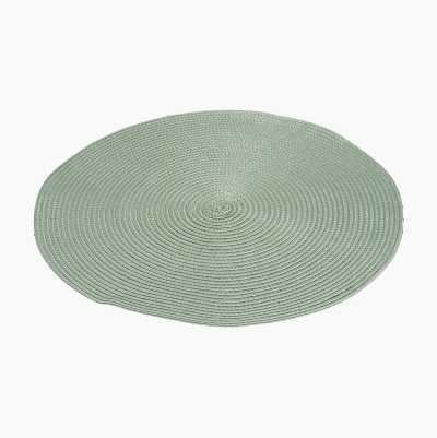 ROUND PLACEMATE GREEN 38CM CAM