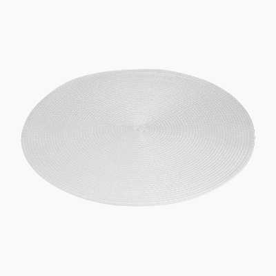 ROUND PLACEMATE WHITE 38CM