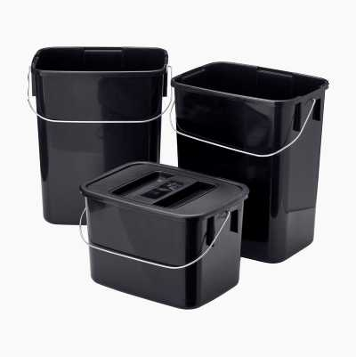 WASTE BOXES W LID 3PCS