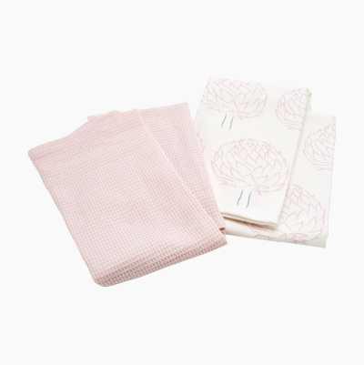 KITCHEN TOWEL 2-P CLOVER FLOWE