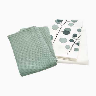 KITCHEN TOWEL 2-P CLOVER FLOWE