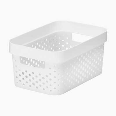 PLASTIC BASKET 4,5L WHITE