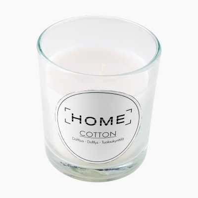 CANDLE IN GLASS JAR COTTON