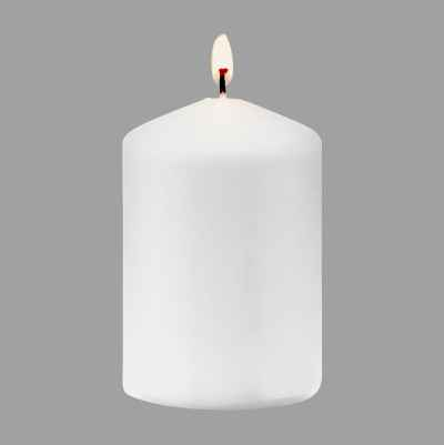 PILLAR CANDLE  WHITE  9,8X6,8C