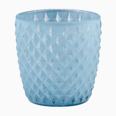 Glass Candl Holder Dark Red H7
