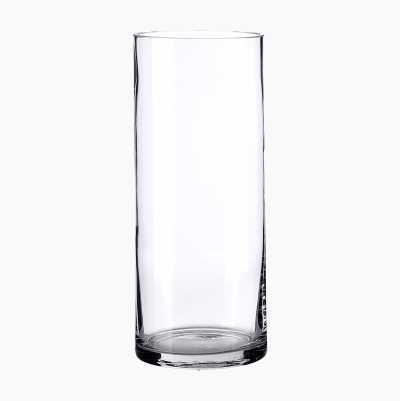 GLASSVASE HØYDE: 23 CM. Ø 10CM