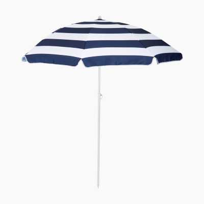 BEACH UMBRELLA BLUE/WHITE