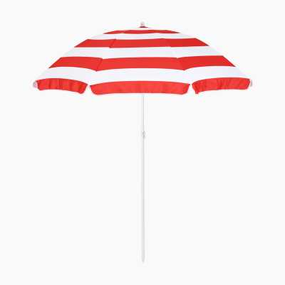 BEACH UMBRELLA RED/WHITE