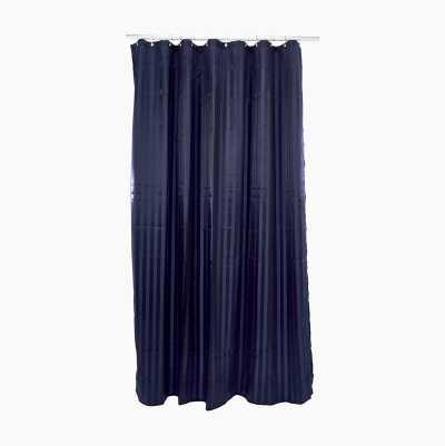 SHOWERCURTAIN STRIPE DARK BLUE