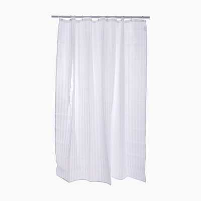 SHOWERCURTAIN STRIPE WHITE 180