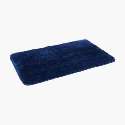 BATHMAT PLAIN DARK BLUE 50X80C