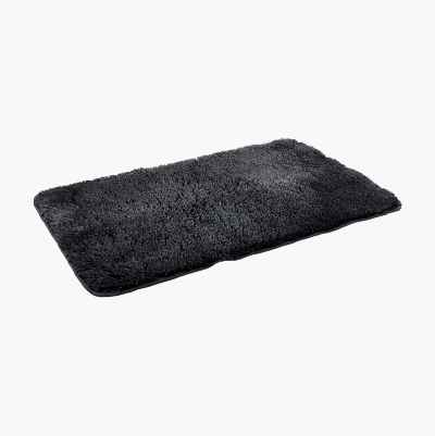 BATHMAT PLAIN DARK GREY 50X80C