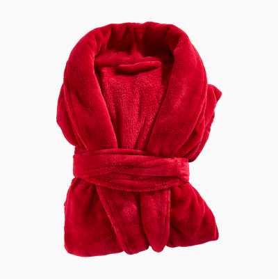 BATHROBE PLAIN RED L/XL 100%PO