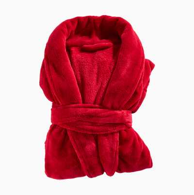 BATHROBE PLAIN RED L/XL 100%PO
