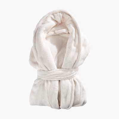 BATHROBE PLAIN WHITE S/M 100%P
