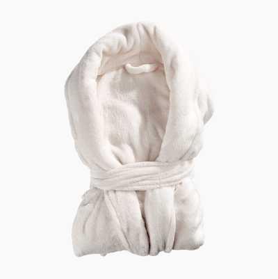 BATHROBE PLAIN WHITE L/XL 100%