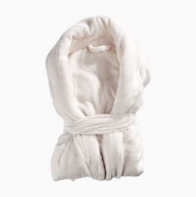 BATHROBE PLAIN WHITE L/XL 100%