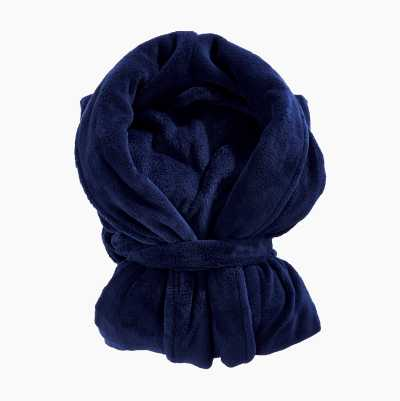 BATHROBE PLAIN DARK BLUE L/XL