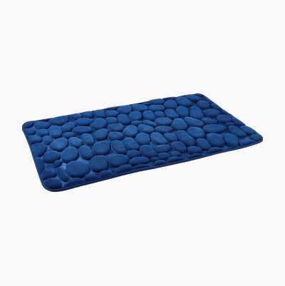 BATHMAT STONE 50X80CM BLUE