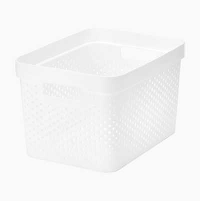 STORAGE BASKET 17L WHITE
