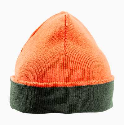 KNITTED CAP GREEN/ORANGE