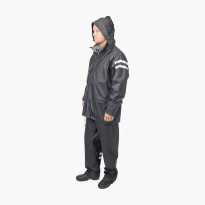 HEAVY RAINSUIT BLACK XXL