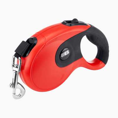 PET AUTO LEASH 5 M RED/BLACK
