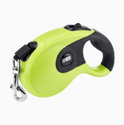 PET AUTO LEASH 5 M LIME/BLACK