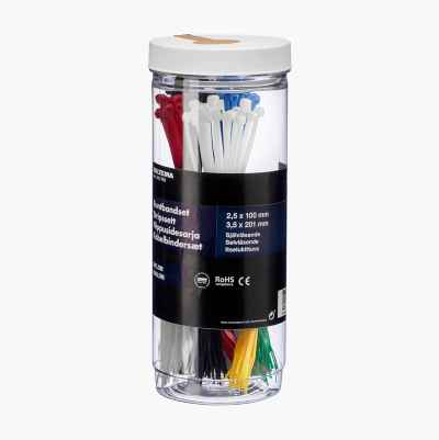 CABLE TIE KIT COLORS 300PCS