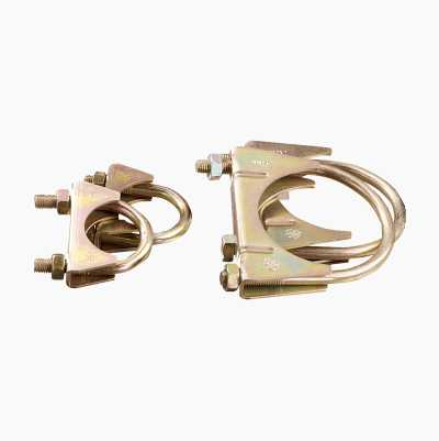 EXHAUST CLAMP 92MM 2PCS