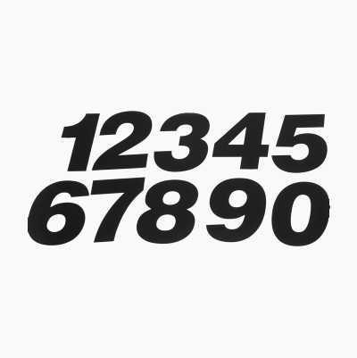 RACING NUMBERS BLACK
