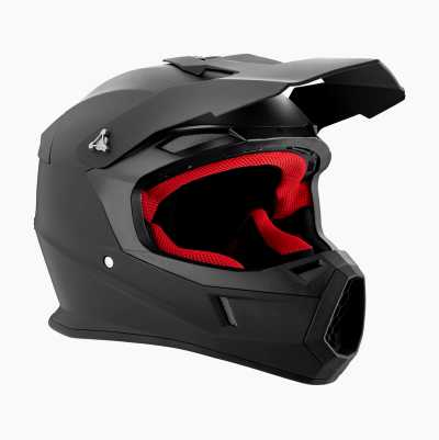 MX HELMETS MATT BLACK L