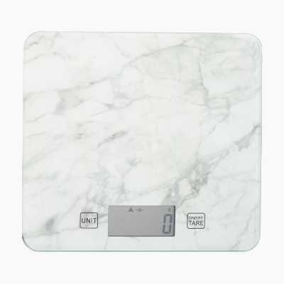 KITCHEN SCALE MARBLE WHITE
