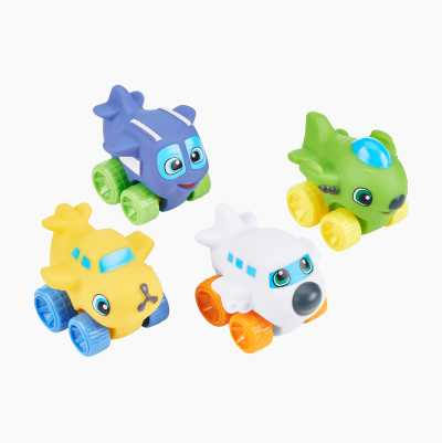 4 PCS SQUEEZY WHEELS, 2 ASST.