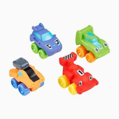 BABY WHEELS RACE CARS. 4 ASST.
