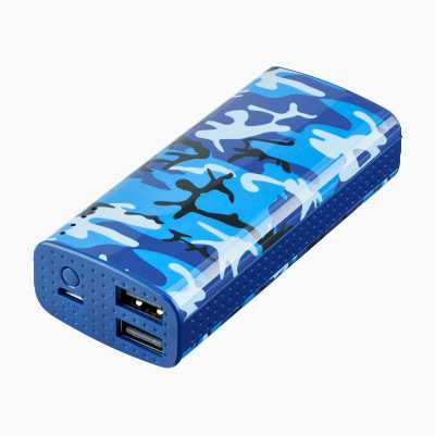 POWERPACK 6000MAH BLUE CAMO