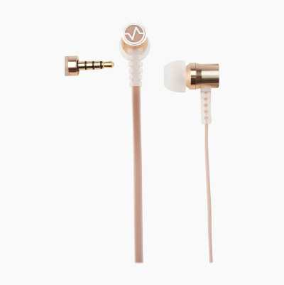 EARPHONES IN METAL GOLD