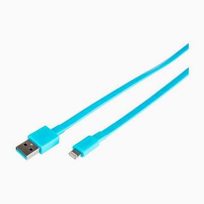 USB 2.0-LIGHTNING FLAT M-M 1,0