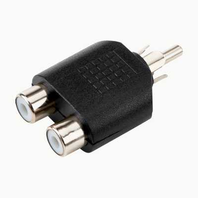 RCA-2XRCA ADAPTER MALE-FEMALE