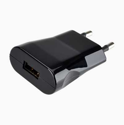 TRAVEL CHARGER 230V 2XUSB 2AH