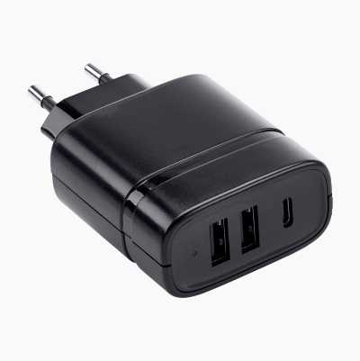 2 X USB + 1 X TYPE C CHARGER 2