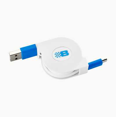 USB A-MICRO CABLE REEL 0,76M