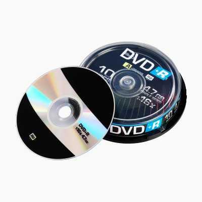 DVD+R-SKIVER 16X 10 STK