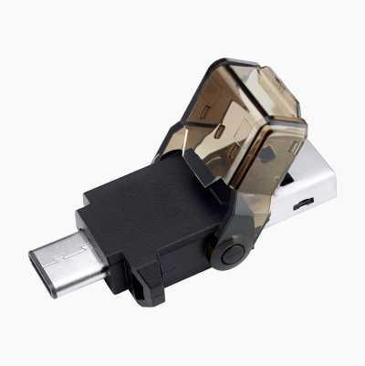 MIKRO SD-KORTLÄSARE,USB-C