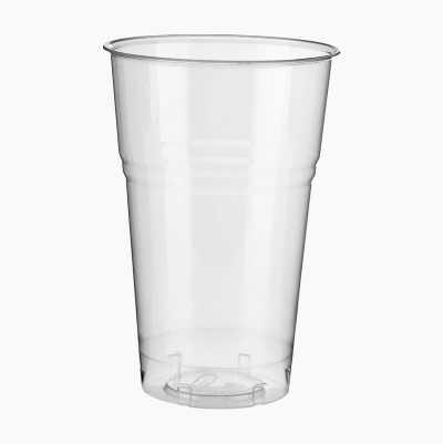 PLA GLASSES 62,5CL, 25P